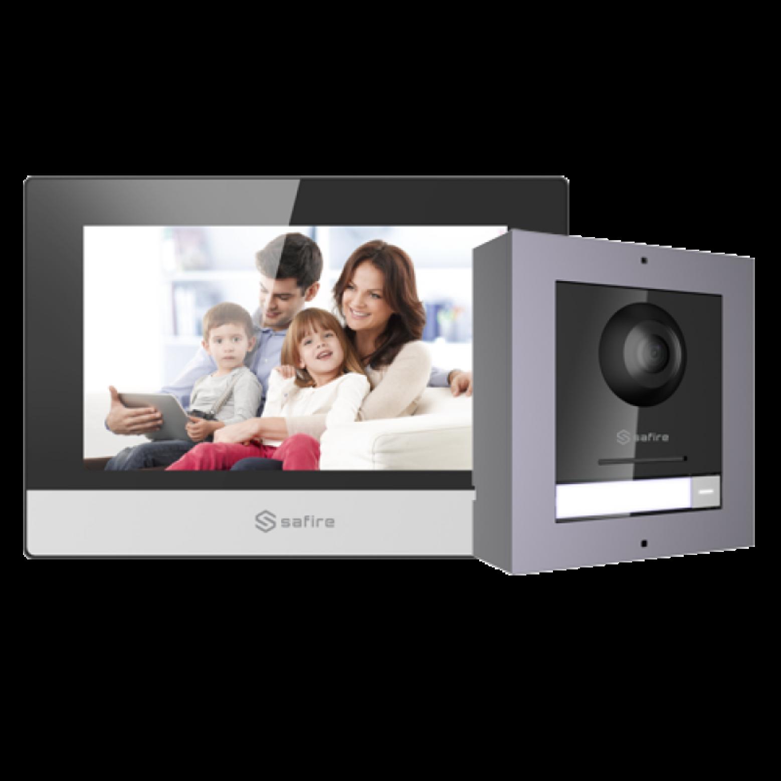 Safire SF-VIK001-S-IP intercomsysteem met 7 monitor