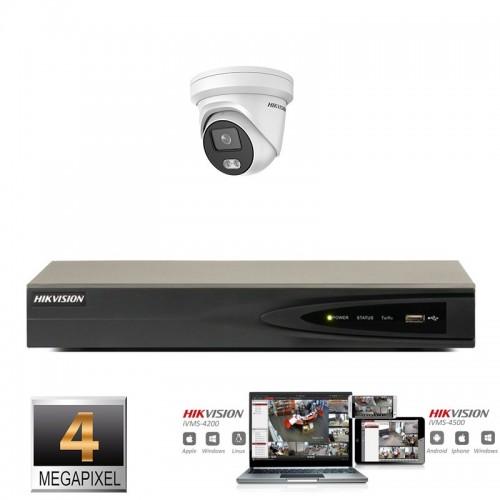 Hikvision IP ColorVu camera set 1x turret 4 megapixel Full HD